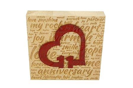 11 Anniversario Di Matrimonio.Blocco Di Legno Di Faggio Per L Undicesimo Anniversario Di