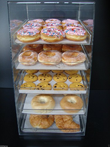 Displays2buy Acrylic Pastry Bakery Donut Bagels Cookie Display Case w/5 trays by Displays2buy (Image #1)