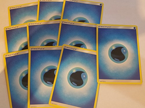 Pokemon 20 Basic Water Energy Cards (Sun & Moon Series Design, Unnumbered) [Blue-Type]