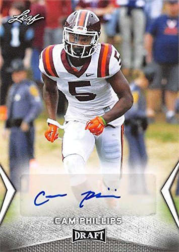 b96ec52cb16 Image Unavailable. Image not available for. Color  Cam Phillips autographed  Football Card (Virginia Tech Hokies) 2018 Leaf ...