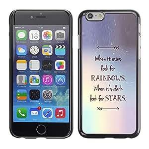 Caucho caso de Shell duro de la cubierta de accesorios de protección BY RAYDREAMMM - Apple iPhone 6 - Rainbows Motivational