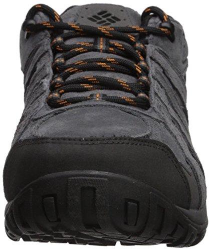 Columbia Men's Redmond Leather Omni-Tech Wide Hiking Shoe Dark Grey, Bright Copper