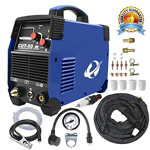 Lcd Display Accessory - Plasma Cutter, CUT50 50 Amp 110V/220V Dual Voltage AC DC IGBT Cutting Machine with LCD Display and Accessories Tools