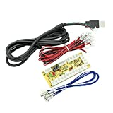 Amatek Zero Delay Arcade USB Encoder Pc to Joystick for Mame Jamma & Other Pc Fighting Games (Fit for 2pin Joystick + Sanwa Style Push Button)