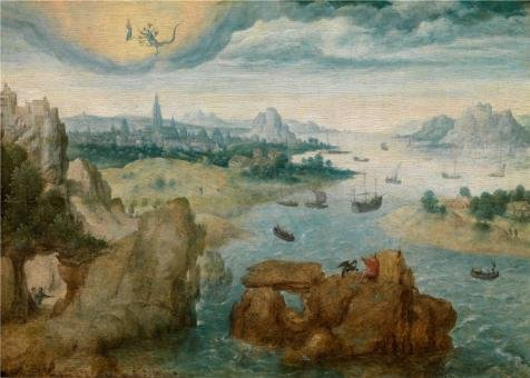 [Oil Painting 'Herri Met De Bles,Saint John On The Island Of Patmos,1535-1550' Printing On Perfect Effect Canvas , 12x17 Inch / 30x43 Cm ,the Best Gym Decor And Home Decoration And Gifts Is This Imitations Art DecorativeCanvas] (Plastic Surgery Costume Makeup)