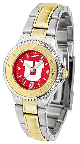 Utah Utes Competitor Steel Watch (Utah Utes Competitor Two-Tone AnoChrome Women's Watch)