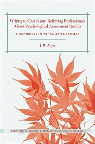 Amazon writing to clients and referring professionals about amazon writing to clients and referring professionals about psychological assessment results a handbook of style and grammar 9780415891240 j b fandeluxe Image collections