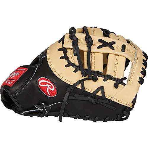 Rawlings PRODCTCB Heart of The Hide, Camel W/Black Back, - 1st Mitt Baseball Base