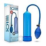 Beginner Penis Pump - Male Enhancement Erection Vacuum Chamber - Sex Toy for Men (Blue)