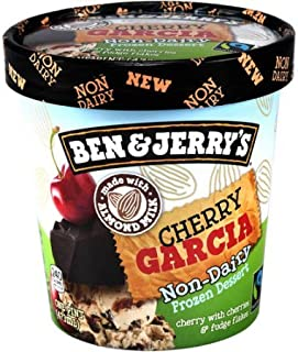 product image for Ben & Jerry's - Non-Dairy Frozen Dessert, Non-GMO - Fairtrade - 100% Certified Vegan - Made with Almond Milk - Responsibly Sourced Packaging, Cherry Garcia, Pint (8 Count)