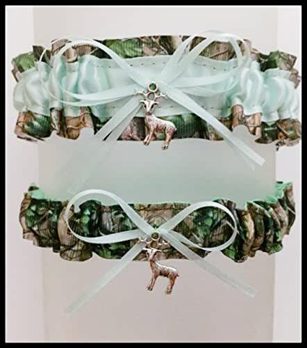 Camo Garter For Wedding: Amazon.com: Sexy Camouflage Mint Green Satin Wedding