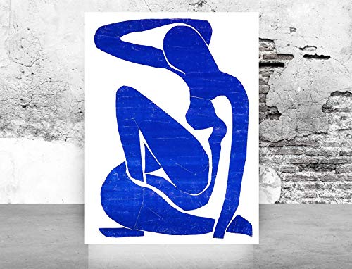 Fashion Glam Wall Art Poster Print - Blue Nude Henri Matisse Reproduction - Printed on Fine Art Paper 1078 Size 12