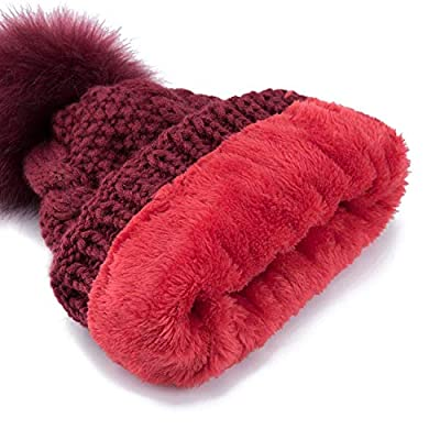 ExpertS Hats 2 Pieces Set Winter Hat and Scarf for Women Winter Scarf Cotton Female Winter Hat