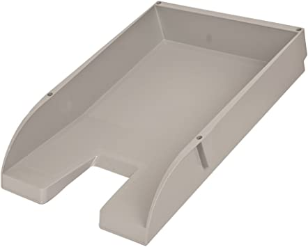 4 x A4 Stackable Letter Tray Grey