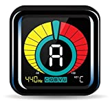 KLIQ UberTuner - Clip On Tuner - with Guitar, Bass, Violin, Ukulele, and Chromatic Tuner Modes - Best for All Acoustic and Electric Instruments - Color Display - A4 Calibration - Transposition Settings