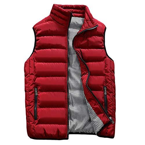 Casual Manche Rouge Hiver Sans Gilet Veste Coton Pull En Chaud D'hiver Hommes wRS5qaxIA
