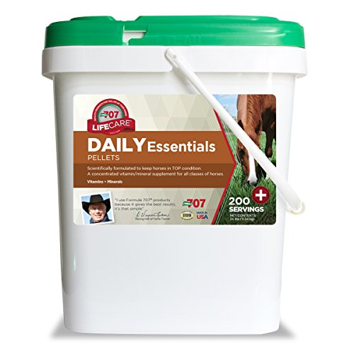 Digestive Supplement Succeed (Formula 707 Daily Essentials Equine Supplement, 25lb Bucket – Complete Vitamins and Minerals for Superior Health and Condition in Horses)