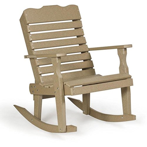 Leisure Lawns Amish Made Recycled Plastic Curve-Back Rocker Chair Model # - Curve Back Chair Rocking