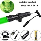 Crossbow Gun with Scope - Ulako Green Light LED Coyote Hog Pig Varmint Predator Hunting Light Flashlight with Remote Pressure Switch