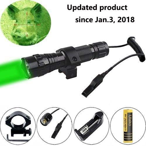 Ulako Green Light LED Coyote Hog Pig Varmint Predator Hunting Light