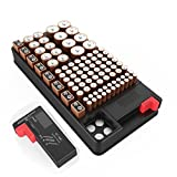 Battery organizer storage case with tester Support AA, AAA, D, C, 9V,