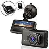 Ampulla Sentry HD Dash Cam Dash Camera for Cars Car DVR Full HD1080 170°Wide (Included Free 16GB Micro SD Card & 2-Socket Plug)