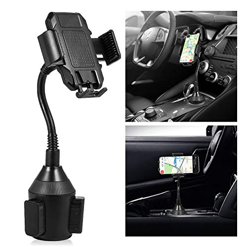 TURNRAISE Cup Holder Phone Mount [2019 New] with 360 Adjustable Goose Neck for Cell Phone Fit with iPhone X XS Max 8 7 Plus - Samsung Galaxy S10 S9 S8 Plus and Most of Smartphones