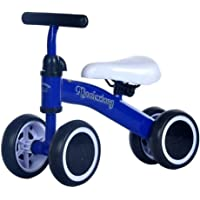 Kids LovemyhomeDD Balance Bike Toddler Push Scooter Baby Walker 4 Wheels Ride on Toy