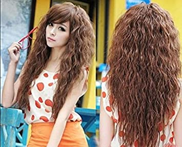 Amazon superwigy hot sale 25 long fashion girls curly superwigy hot sale 25quot long fashion girls curly highlights hair party wig 3 colors pmusecretfo Images