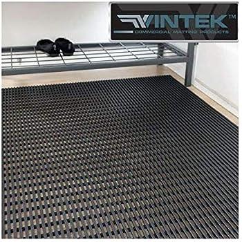 VinAir Pool, Locker Room, Shower, Patio or House and Office Entrance Water draining Floor mat by VinTek (3x2, Black)