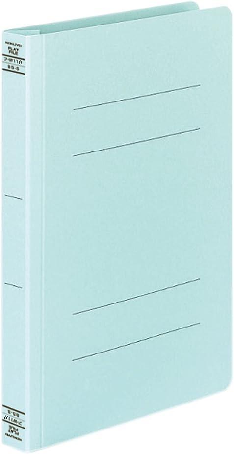 Kokuyo flat file paper cover resin binding tool 2 hole B5 250-sheet blue off W11NB