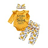 Newborn Kids Baby Girl Tops T-Shirt Long Pants Outfits Clothes Summer 3M-18M