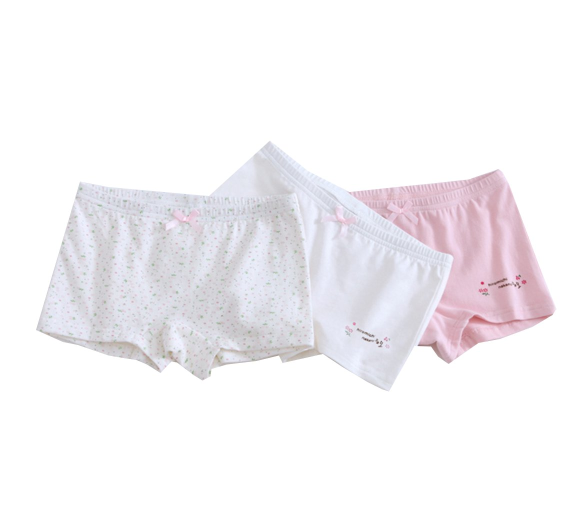 BAIYIXIN Toddler Girls Panties Cotton Briefs Underwear Set Summer 3-Pack