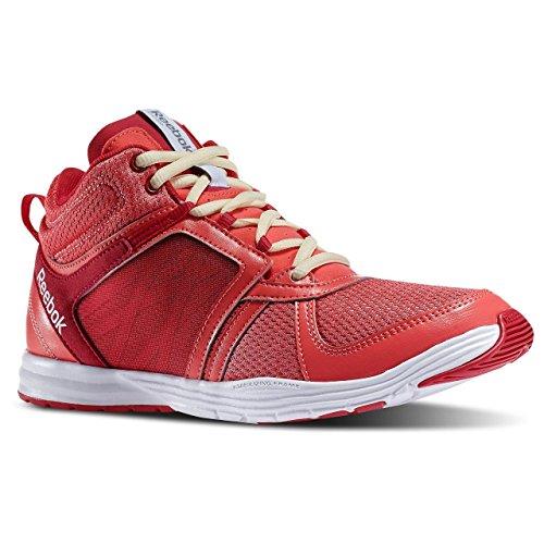 Reebok Sublite Chaussures de fitness et de training Mid Taille 40 coloris Tres Sorbet/Pop Magenta/Jaune délavé/Blanc