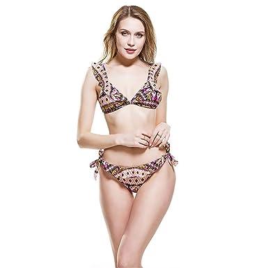Amazon.com: Bañador para mujer Bikini 2 piezas impreso Push ...