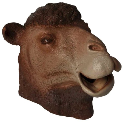 Forum Novelties Men's Deluxe Adult Latex Camel Mask, Multi Colored, One Size -