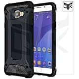 TheGiftKart Special Edition Neo-Hybrid Dual Layer Armor Back Cover (Metallic Black) for Samsung A9 Pro