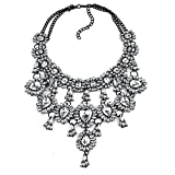 Teniu Fashion Crystal Flower Necklace Statement Collar Necklace Review and Comparison