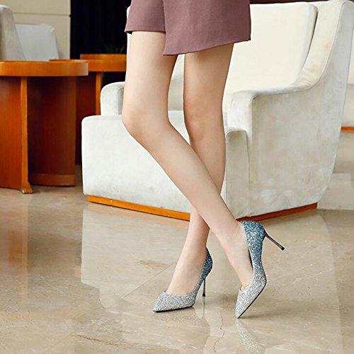 Pompe Muma Tacchi Alti 2018 Stagione Primaverile Ha Mostrato Scarpe Da Sposa Sexy Scarpe Di Cristallo Sposa (colore: 8cm, Formato: Eu38 / Uk5.5 / Cn38) 6 Centimetri