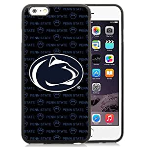 Customized Iphone 6 Plus Case with Ncaa Big Ten Conference Football Penn State Nittany Lions 5 Protective Cell Phone TPU Cover Case for Iphone 6 Plus Generation 5.5 Inch Black