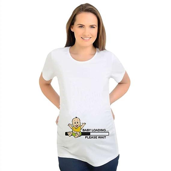 Binhee Ropa De Maternidad Simple Suelto Casual Impresión Digital Bebés Patrones Camiseta De Manga Corta