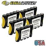 5pc Exell 6V 1000mAh (5xAA) NiCd Custom Battery Pack w/ Tabs