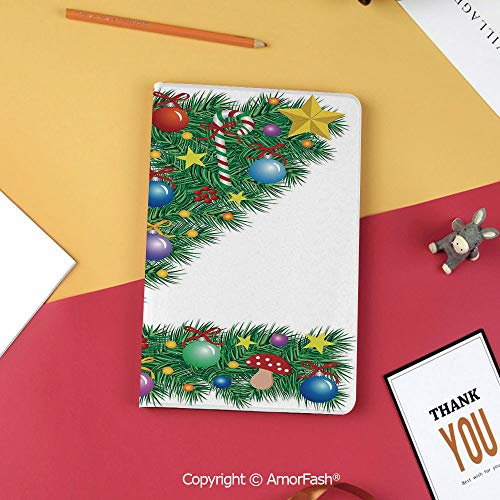 Case for Samsung Tab S3 9.7 SM-T820 SM-T825 Tablet Case Protective Cover Crystal Case,Letter Z,Traditional Themed Font Design Z with Colorful Ornaments Christmas Santa Claus Decorative,Multicolor