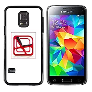 A-type Colorful Printed Hard Protective Back Case Cover Shell Skin for Samsung Galaxy S5 Mini / Samsung Galaxy S5 Mini Duos / SM-G800 !!!NOT S5 REGULAR! ( Interior Design Chair Red Modern Abstract Art )