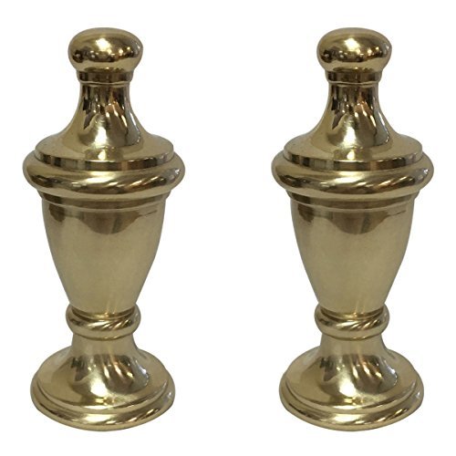 (Royal Designs Simple Vase Design Lamp Finial with Polished Brass Finish - Set of)