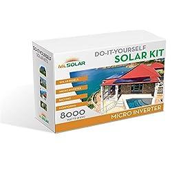 8Kw Complete DIY Solar Kit 260W Watt REC Solar Panels Enphase M250 Mirco Inverters Roof Tech Rail-Less Racking