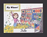 Slot Machine Gift Personalized Custom Cartoon Print 8x10, 9x12 Magnet or Keychain
