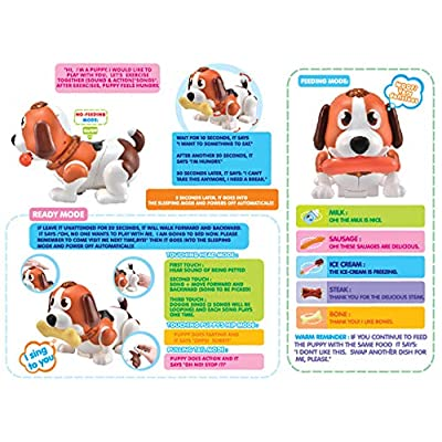 JOYIN Electronic Pet Dog, Puppy Robot Dog Toy, Touch Induction, Food Recognition, Interactive, Chasing, Walking, Dancing, Music, Remote Controlled and Fun Toys for Kids, Boys or Girls Birthday Gifts: Toys & Games