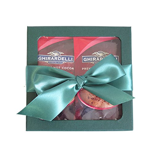Holiday Hot Cocoa Drink Mix Gift Set for Christmas - Ghirardelli Hot Cocoa Gift - Hot Cocoa Mix - Coffee Gifts - Best Gift for Coworkers, Friends, Boss Etc. (Green)