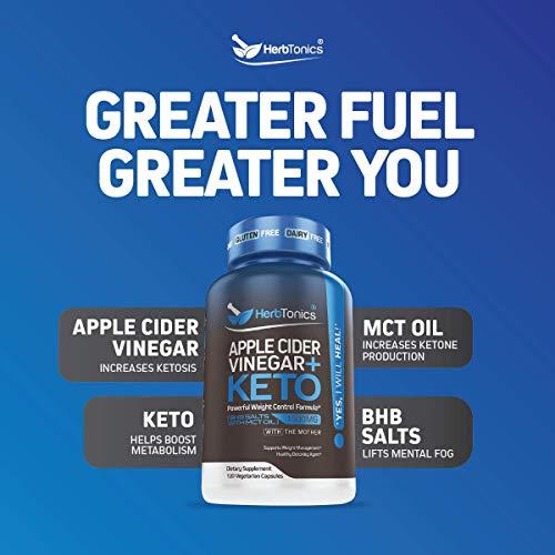 5X Potent Apple Cider Vinegar Capsules Plus Keto Bhb Salts – Fat Burner and Weight Loss Supplement Detox Formula for…
